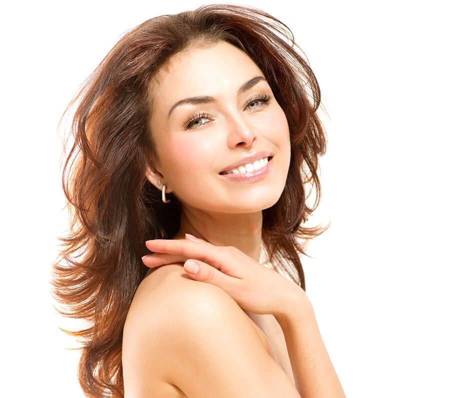 Beautiful woman, skin