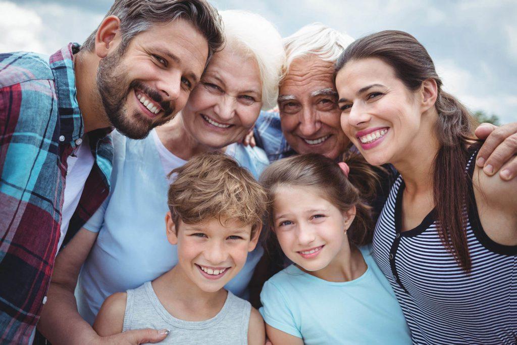 Three generation happy family