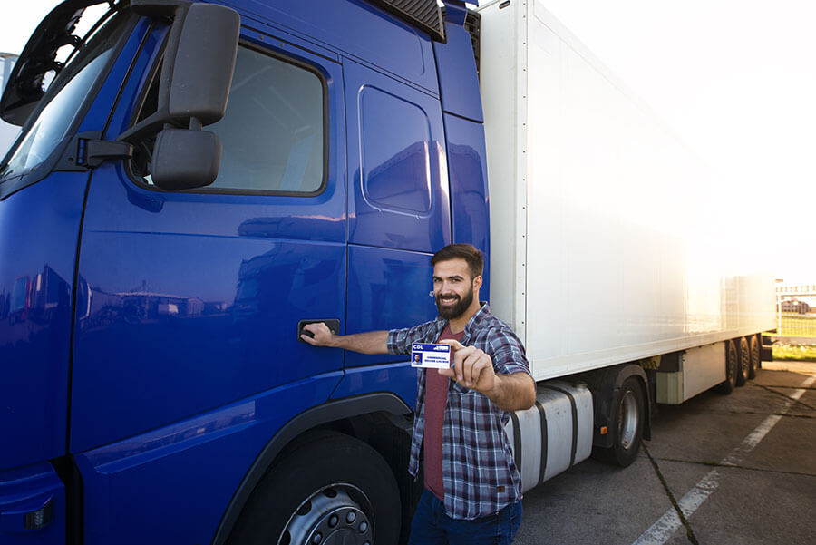 Commercial truck driver holds CDL